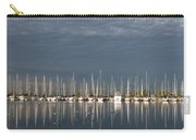 A Break In The Clouds - White Yachts Gray Sky Carry-all Pouch