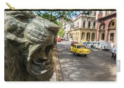A Bronze Lion Guards Historic Buildings Carry-all Pouch