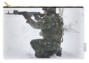 A Bulgarian Soldier Aims Down The Sight Carry-all Pouch
