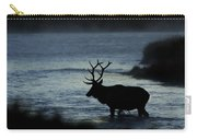 A Bull Elk Crosses The Madison In The Early Morning  Carry-all Pouch