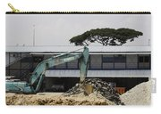 A Bulldozer Moving Dug Out Concrete And Fresh Earth Below The Concrete Carry-all Pouch