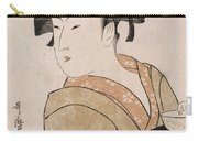 A Bust Portrait Of The Waitress Okita Of The Naniwaya Teahouse Carry-all Pouch