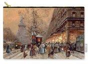 A Busy Boulevard Near The Place De La Republique Paris Carry-all Pouch