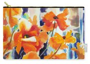 A Choir Of Poppies Carry-all Pouch by Kathy Braud