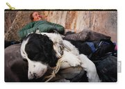 A Climber And Her Dog Lay Carry-all Pouch