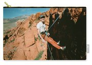 A Climber On Panty Wall In Red Rock Carry-all Pouch