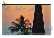 A Clock Tower At Sunset On Maui, Hawaii Carry-all Pouch