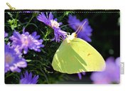 A Clouded Sulphur On Lavender Mums Carry-all Pouch