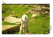 A Goat Coming Down The Trail Carry-all Pouch