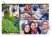 A Collage Of The Fresh Market In Kusadasi Turkey Carry-all Pouch