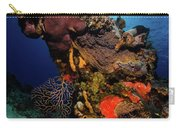 A Colorful Reef Scene With Sunburst Carry-all Pouch