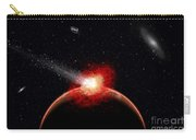 A Comet Hitting An Alien Planet Carry-all Pouch