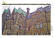 A Corner Of Parliament Building In Ottawa-on Carry-all Pouch