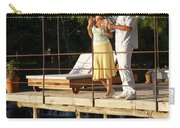 A Couple Having Drinks On A Deck Carry-all Pouch
