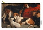 A Couple Of Foxhounds With A Terrier The Property Of Lord Henry Bentinck Carry-all Pouch