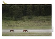 A Couple Of Horses Standing Carry-all Pouch