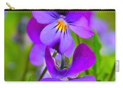 A Couple Of Pansies Carry-all Pouch