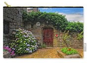A Courtyard In Brittany France Carry-all Pouch