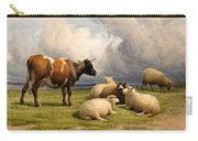 A Cow And Five Sheep Carry-all Pouch