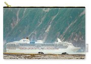 A Cruise Ship Passes By A Wolf Roaming Carry-all Pouch