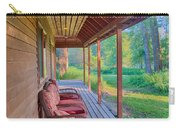 A Deck By The Methow River At Cottonwood Cottage Carry-all Pouch