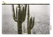 A Desert Southwest Snow Day  Carry-all Pouch by Saija  Lehtonen