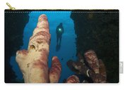 A Diver Looks Into A Cavern Carry-all Pouch by Steve Jones