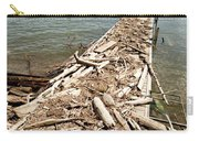 A Dock Covered With Driftwood Carry-all Pouch