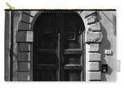 A Door In Tuscany Bw Carry-all Pouch