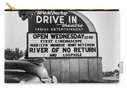 A Drive-in Theater Marquee Carry-all Pouch