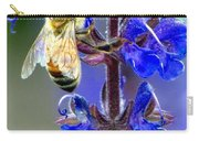 A European Honey Bee And It's Flowers Carry-all Pouch