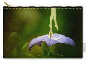 A Fairy In The Garden Carry-all Pouch by Rebecca Sherman