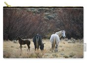 A Family Of Three - Wild Horses - Green Mountain - Wyoming Carry-all Pouch
