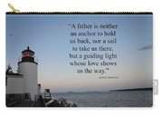 A Father Is Lighthouse Quote Carry-all Pouch