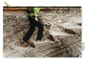 A Female Hiker Walking Up Steps Chopped Carry-all Pouch