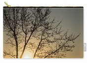 A Filigree Of Branches Framing The Sunrise Carry-all Pouch
