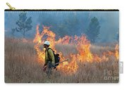 A Firefighter Ignites The Norbeck Prescribed Fire. Carry-all Pouch