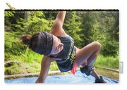 A Fit Woman Completes A Morning Carry-all Pouch