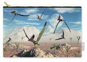 A Flock Of Thalassodromeus Pterosaurs Carry-all Pouch