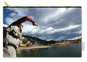 A Fly Fisher Casting His Line Carry-all Pouch
