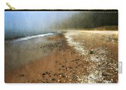 A Foggy Day At Pier Cove Beach 2.0 Carry-all Pouch by Michelle Calkins