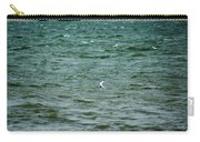 A Forster Tern Fighting The Winds Out At Sea Carry-all Pouch