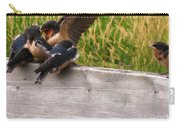 A Fourth Baby Barn Swallow Wants In On Lunch Carry-all Pouch