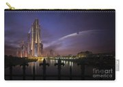 A Futuristic City On An Carry-all Pouch