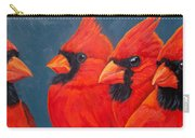 A Gathering Of Cardinals Carry-all Pouch