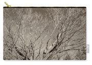 A Giant Sleeps Sepia Carry-all Pouch