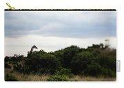 A Giraffe Giraffa Camelopardalis Among Carry-all Pouch