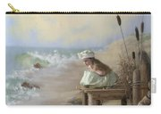 A Girl Posed By The Seashore Victoria Carry-all Pouch