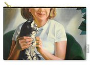 A Girl With A Cat Carry-all Pouch