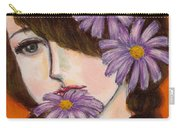 A Girl With Daisies Carry-all Pouch